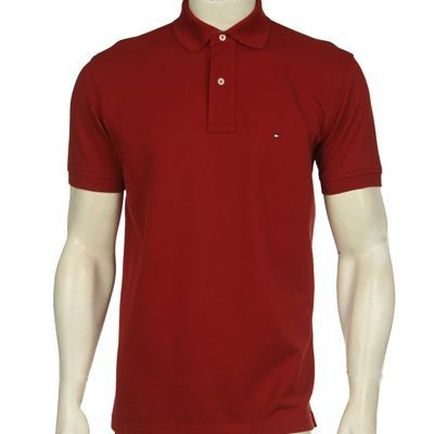 bd15286dd Camisa gola polo Tommy Hilfiger vermelha - Aproveite Imported Clothes