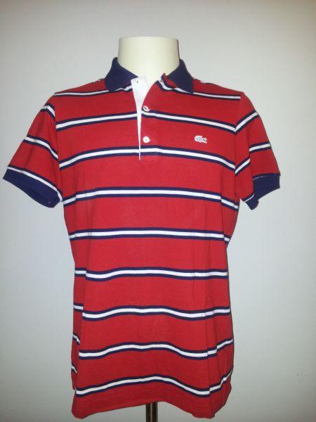 eee0815eaa2 Camisa gola polo Lacoste listrada - Aproveite Imported Clothes